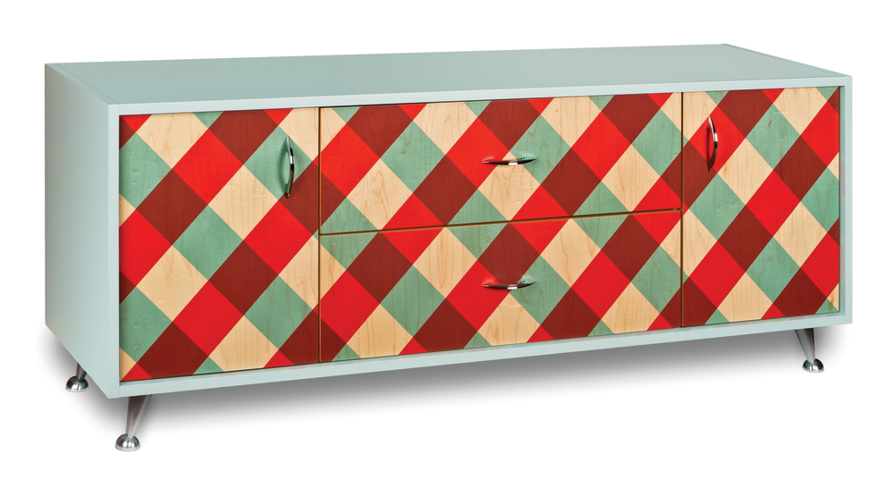 Facets Patterns on Cabinetry
