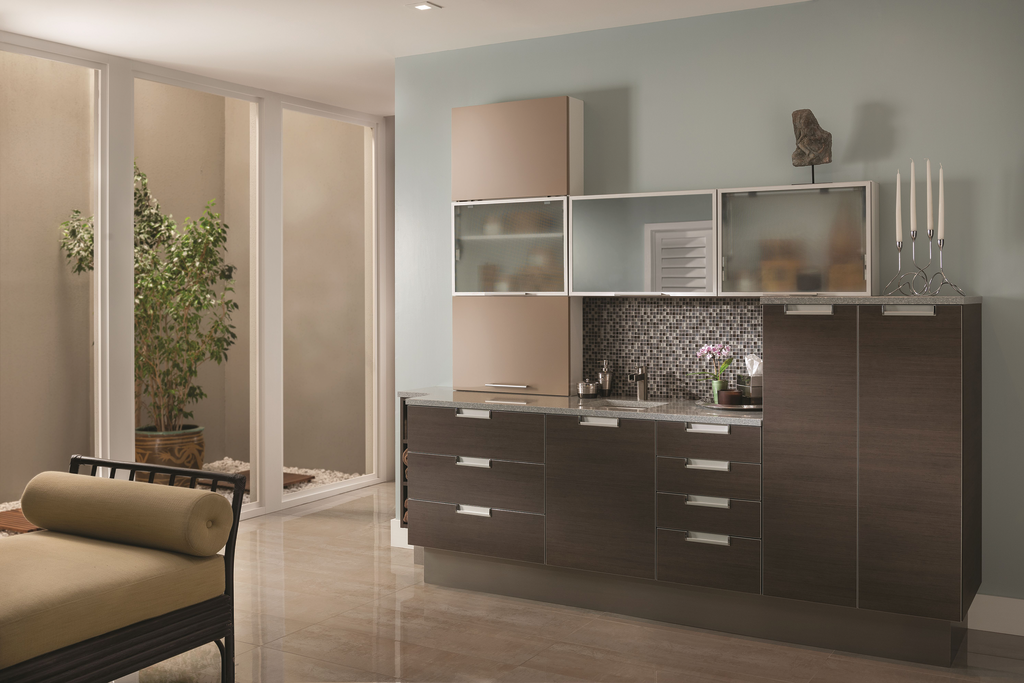 Textured Wood Look Laminate Cabinets