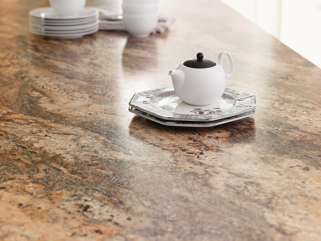 Laminate surfacing adds granite pattern