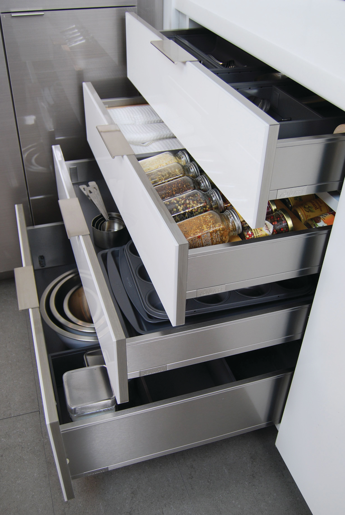 Stainless Drawers and Shelves