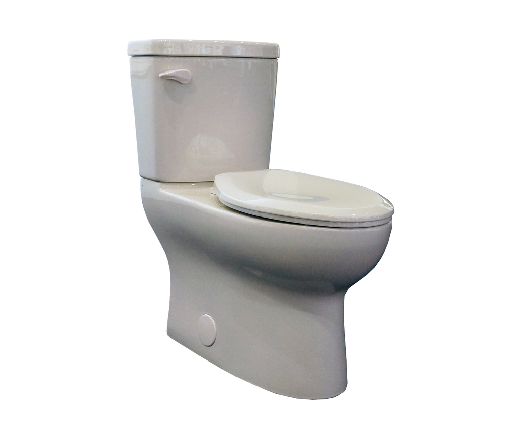 High-efficiency, two-piece toilet