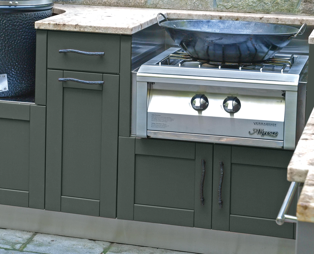 Nature-Inspired Stainless Cabinet Colors
