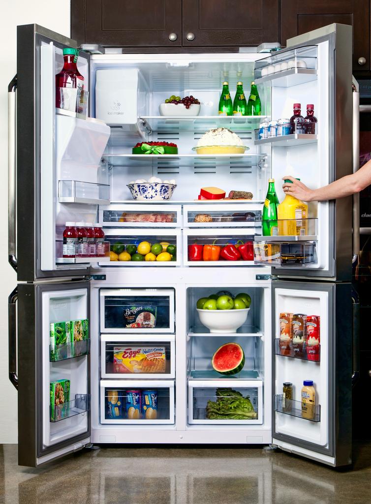 Distinctive 36″ Four Door French Door Refrigerator
