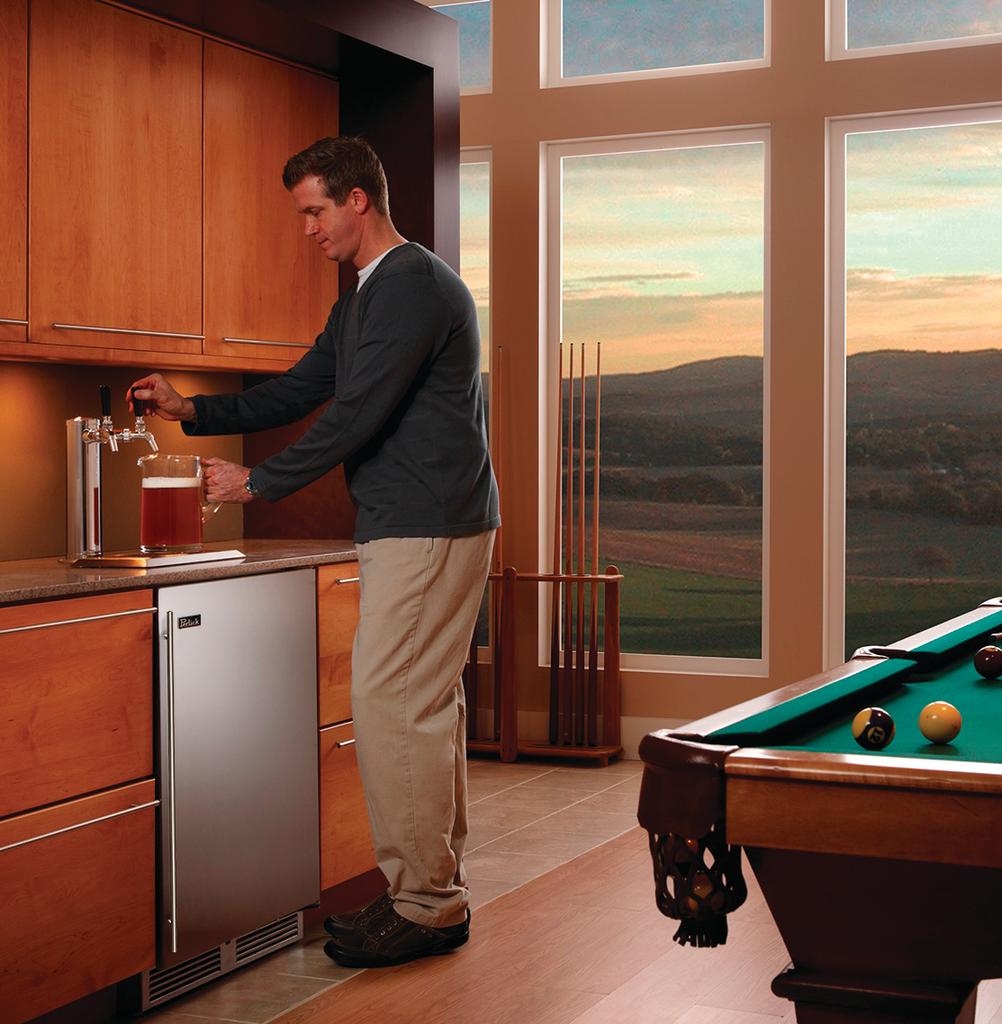 Indoor or outdoor beer dispenser