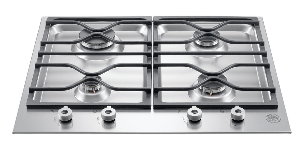 Three- or four-burner segmented cooktops