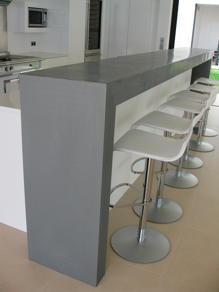 Countertop material keeps surface sanitary