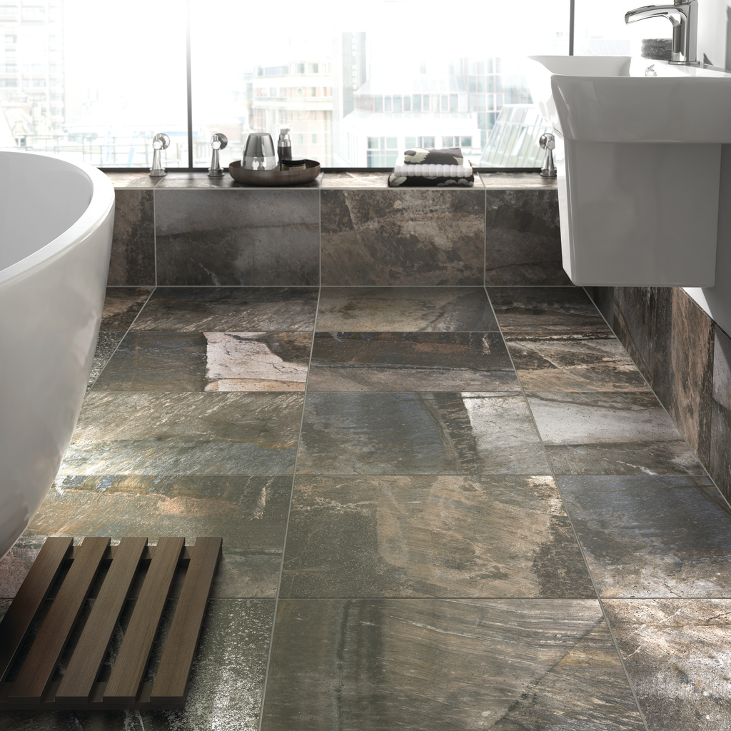 Tile for interior, exterior applications