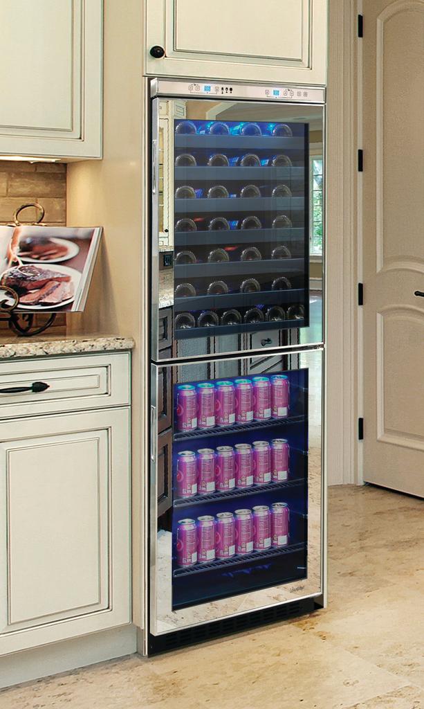 Mirrored Wine Cooler