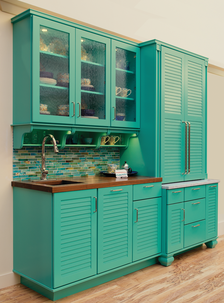 Individualized color, finish for cabinetry