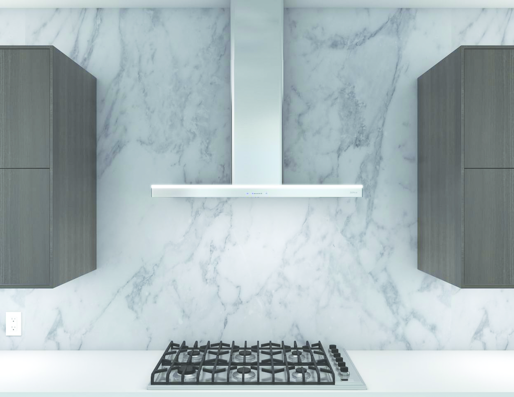 Range hood with touch controls