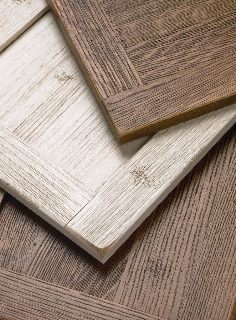 Weathered Grain Cabinet Components