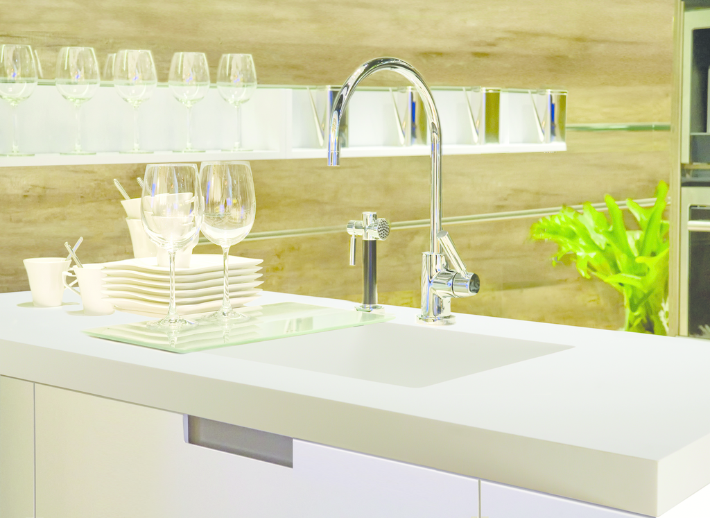 Counter sinks with look, feel of molded stone