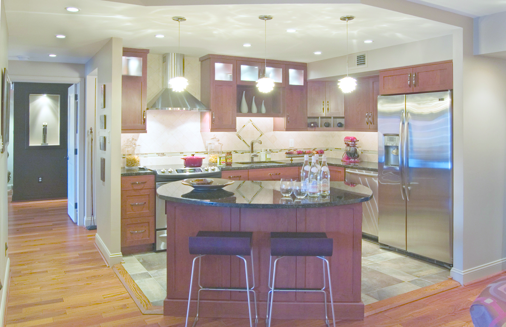 Shaker-style cabinetry
