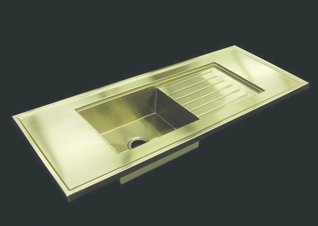 Retro Modern Stainless Counter and Sink