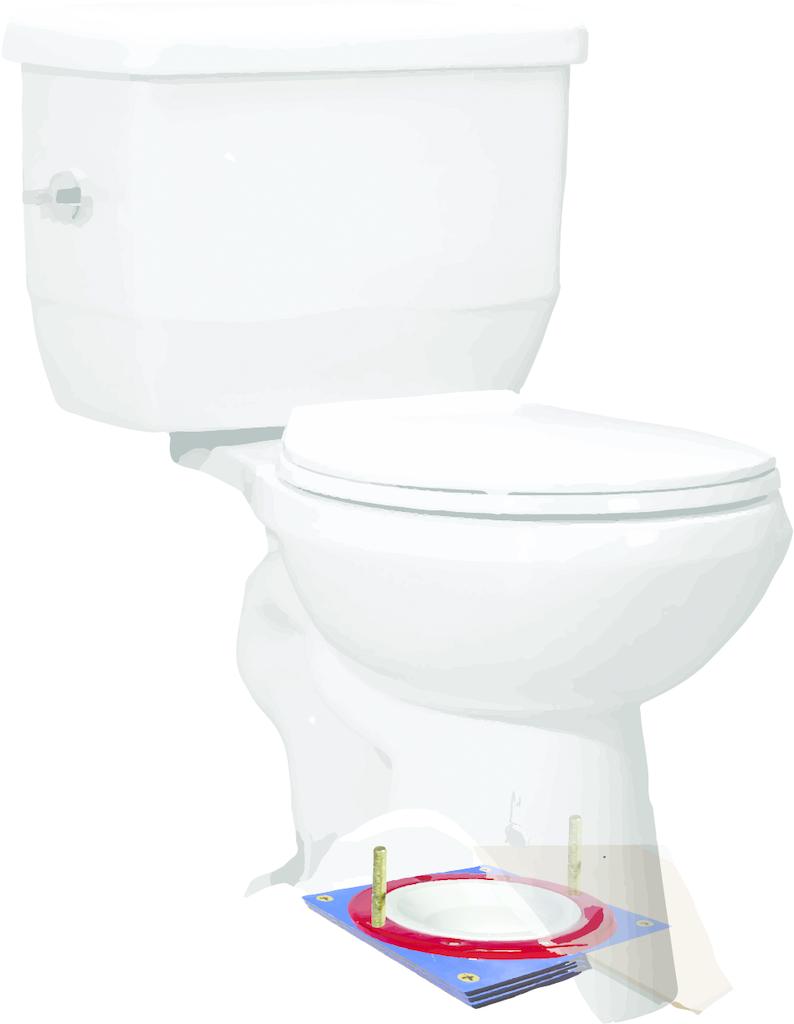 Toilet flange support system