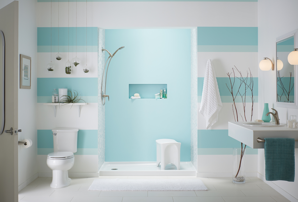 Bath-to-shower conversion option