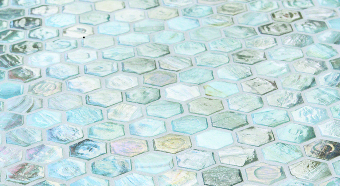 Agate Glass Hexagon Tile