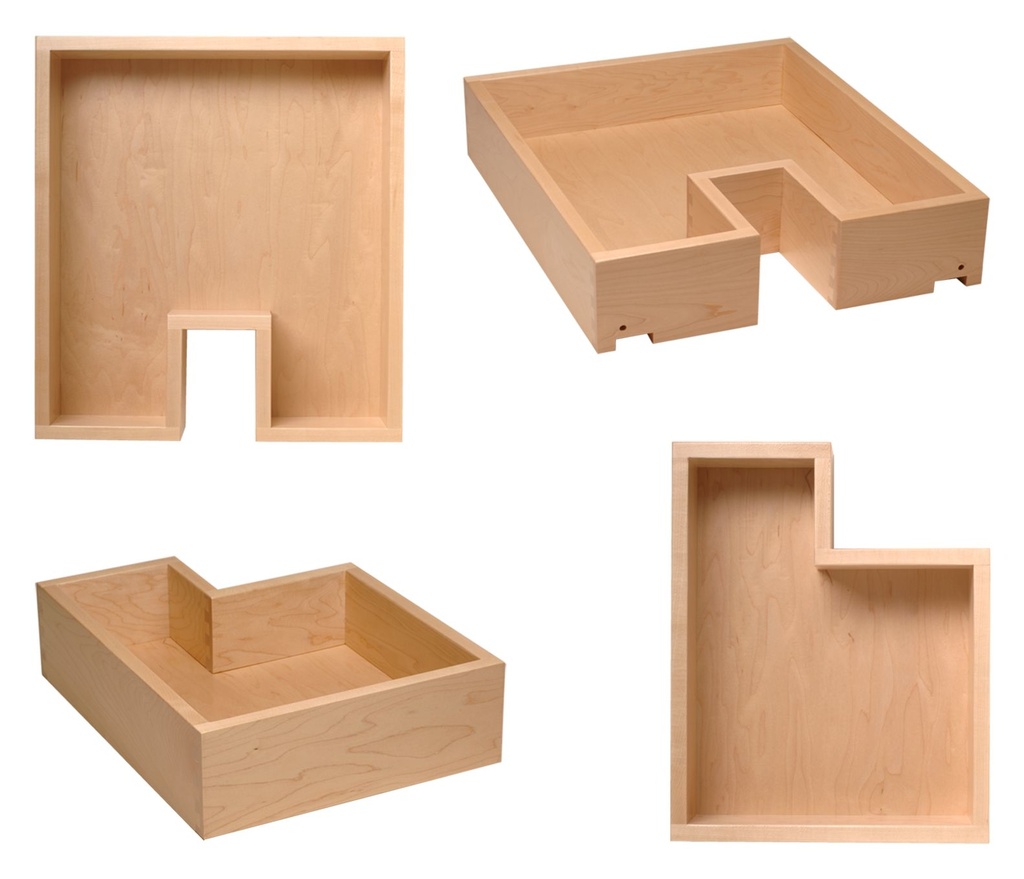 Notched Pattern Drawer Boxes