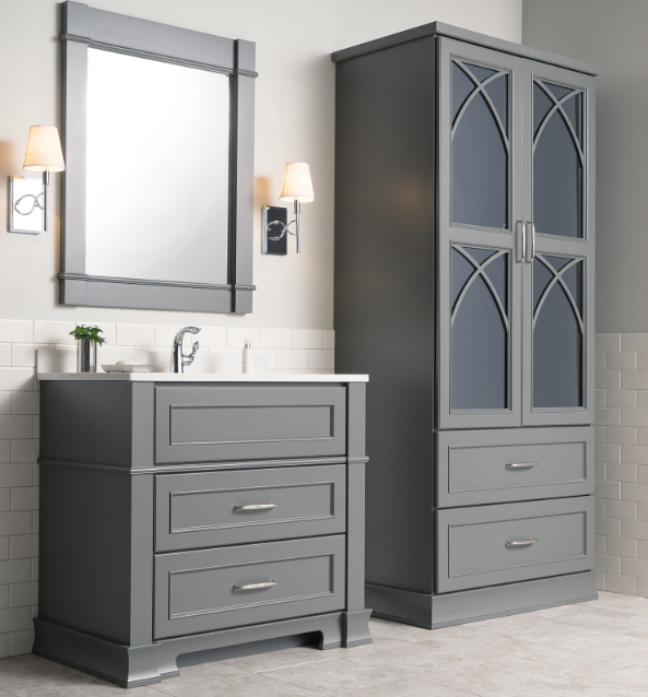 Glass & Mirrored Bath Cabinetry