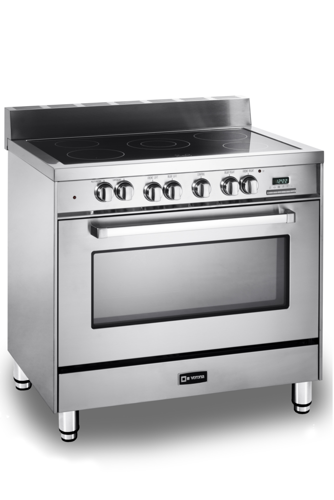 Single-oven electric range
