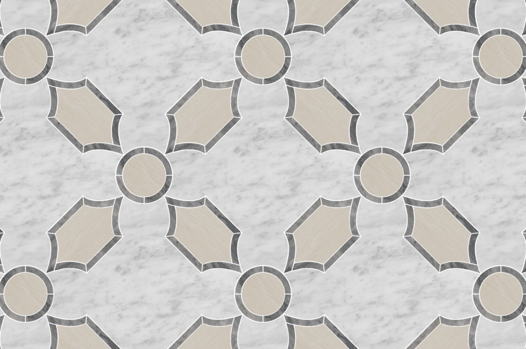 Porcelain tile with stone detail