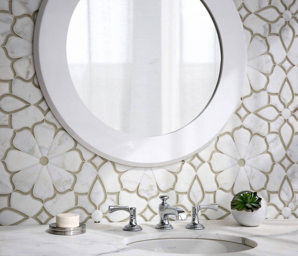 Mosaic Glass and Stone Tile