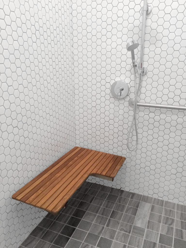 ADA Teak Shower Bench