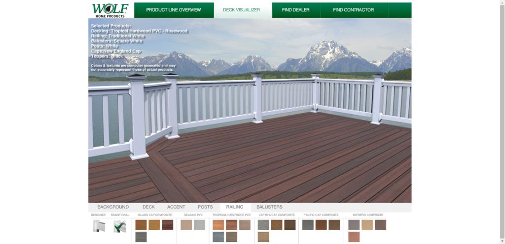 Web-based deck design tool