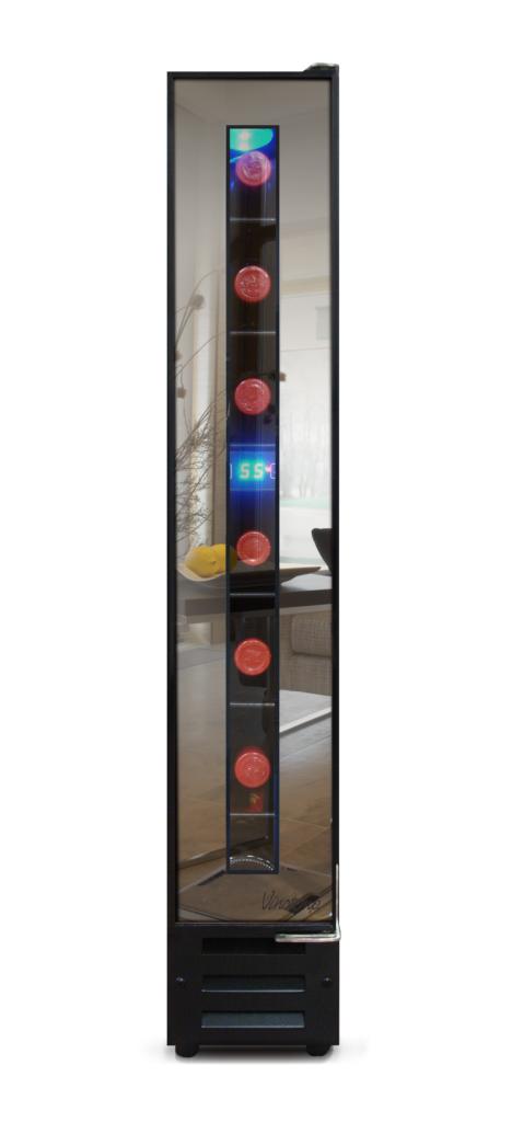 7-Bottle Mirrored Wine Cooler