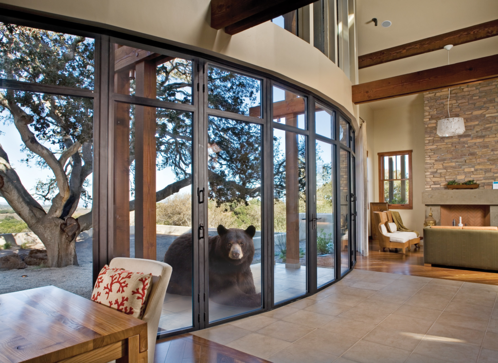 Glass wall system protects against bears