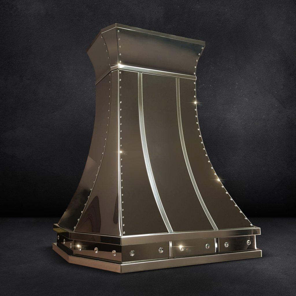 Mirrored Titanium Range Hood