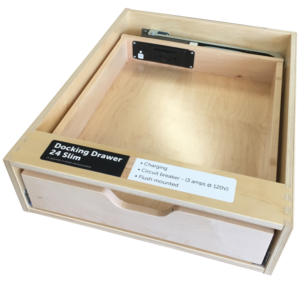 In-Drawer Electrical Outlets