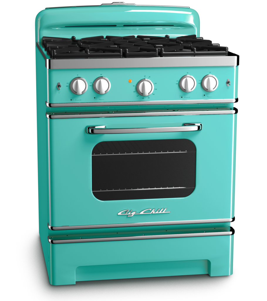 Turquoise Retro Appliance Finish