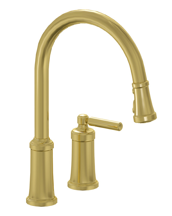Unlacquered Brass Kitchen Faucet