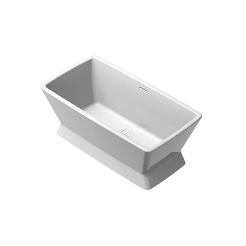 Lavatory, bathtub made of cast stone