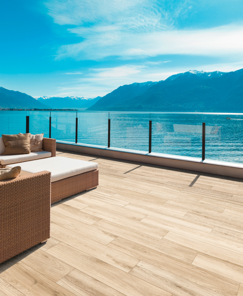 Tile brings wood-look outdoors
