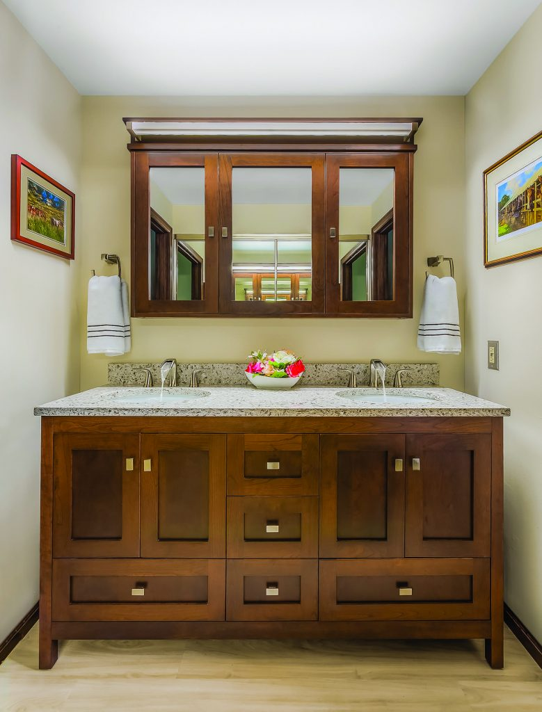 Vanities in three configurations