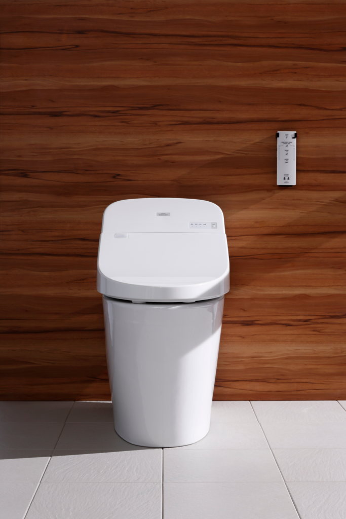 Sensor-operated washlet toilet with remote control