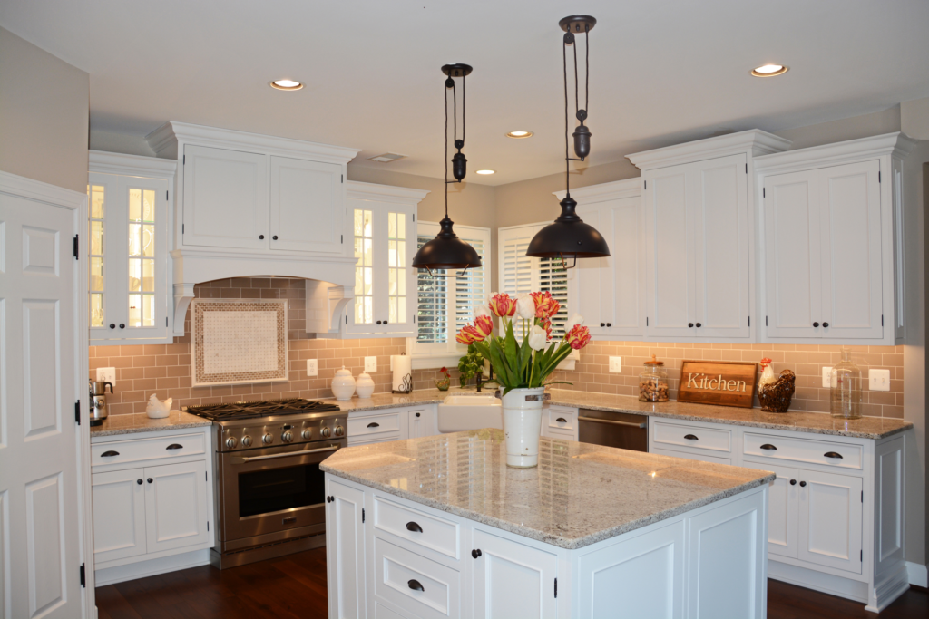 Inset White Cabinetry