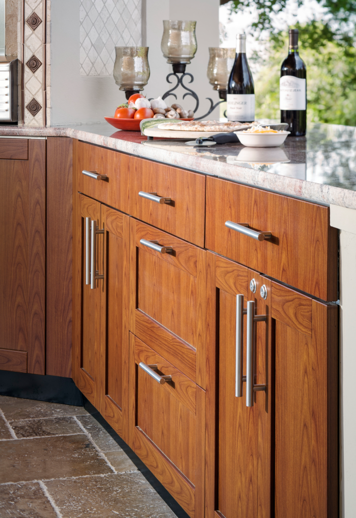 Stainless Wood Grain Cabinetry