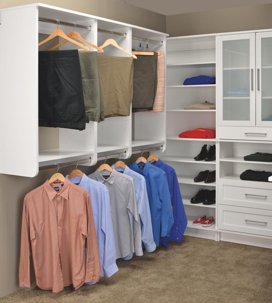 White Shaker Closet Cabinets