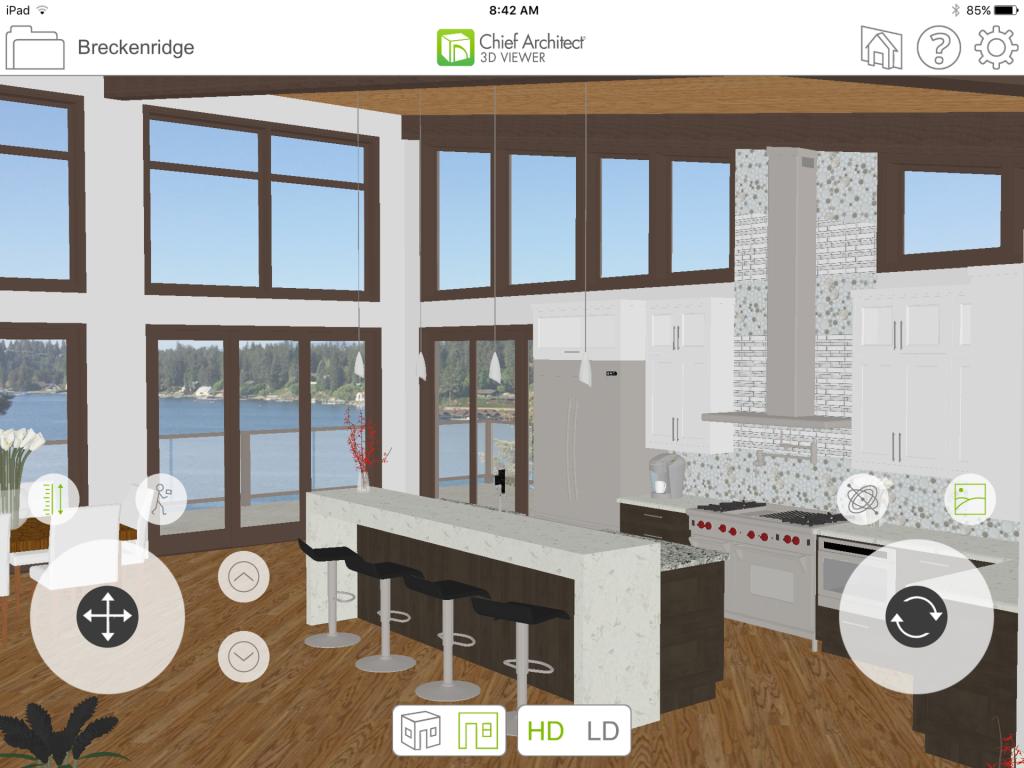 Virtual reality walk-through of models