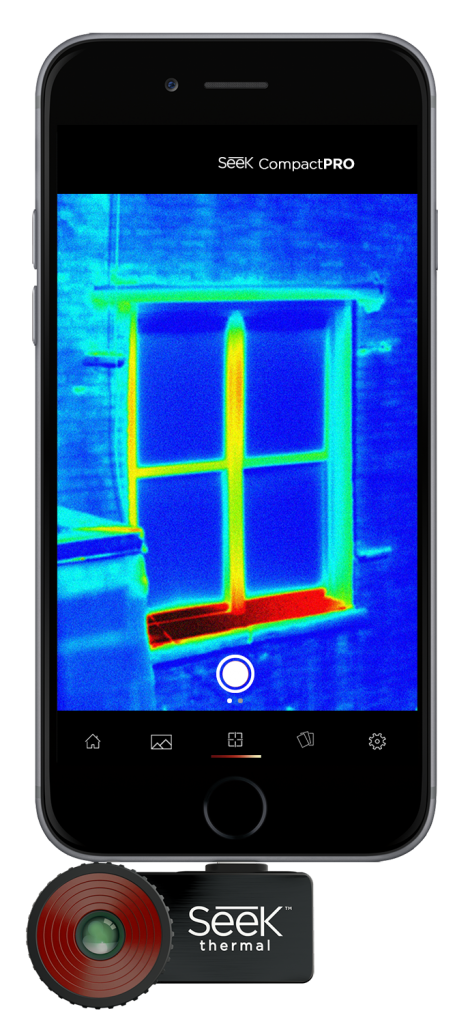 Energy loss, water damage are more detectable with thermal imager on smartphone