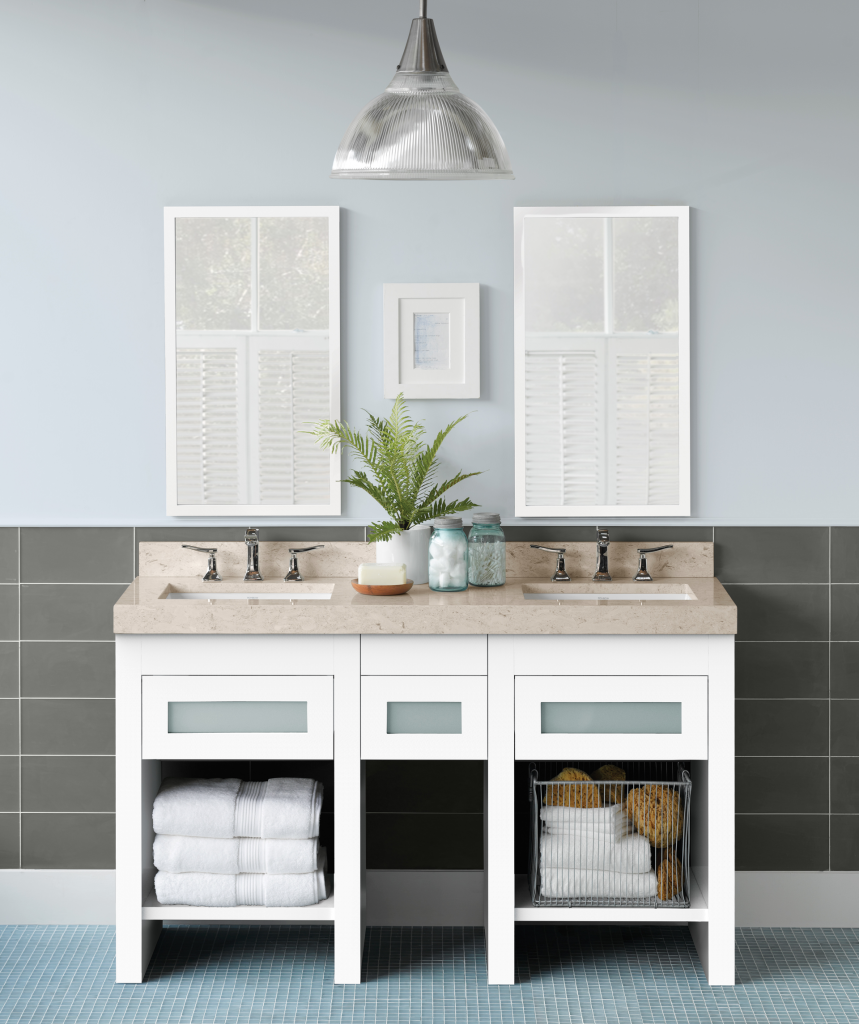 White Vanity Finishes