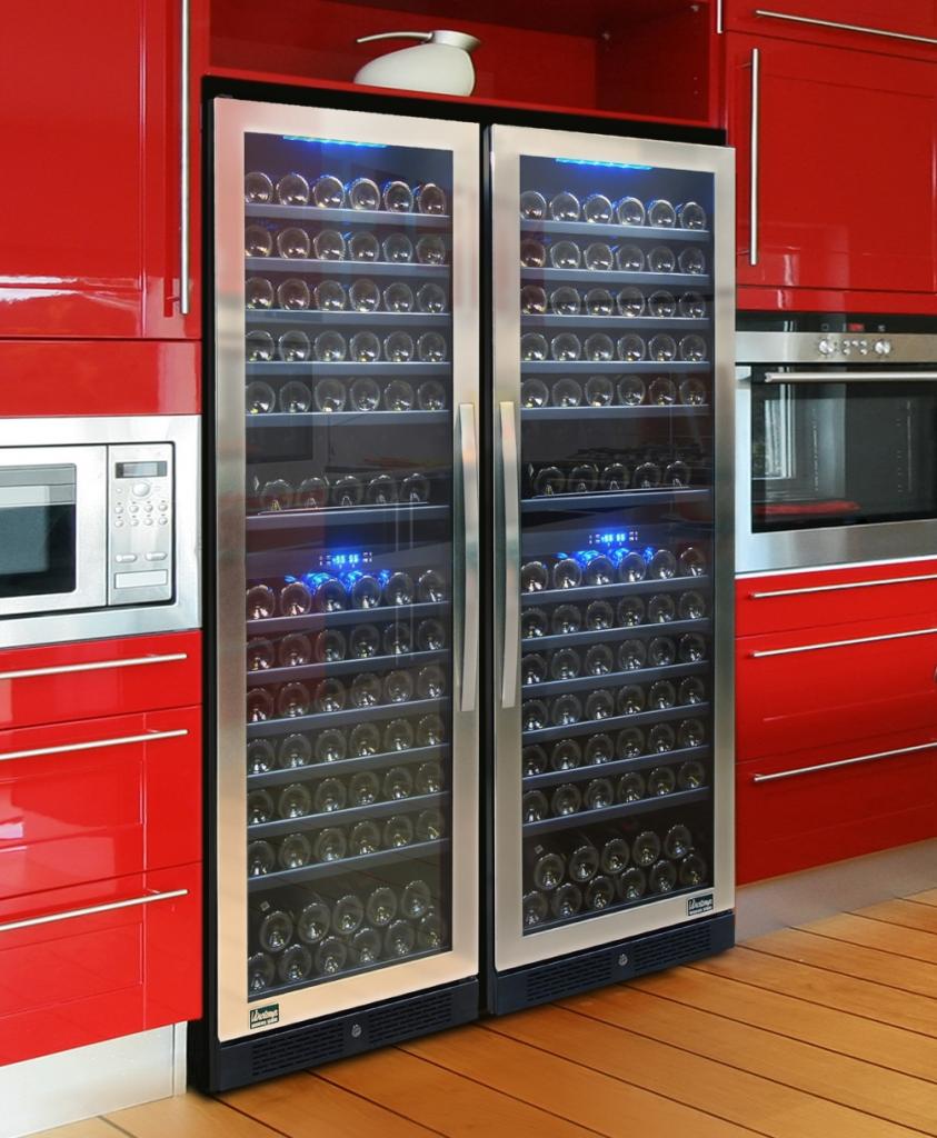 Wine Cooler Blu LED Interior