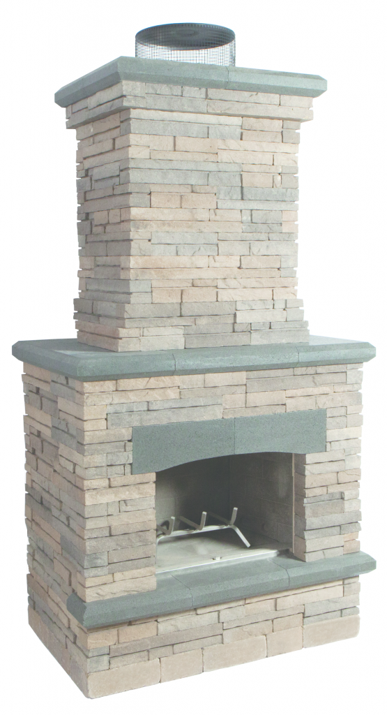 Two-piece, outdoor brick oven