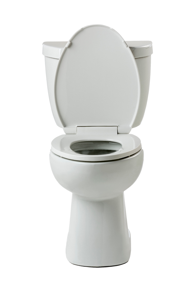 Toilet features dual flush technology for ultra-high efficiency