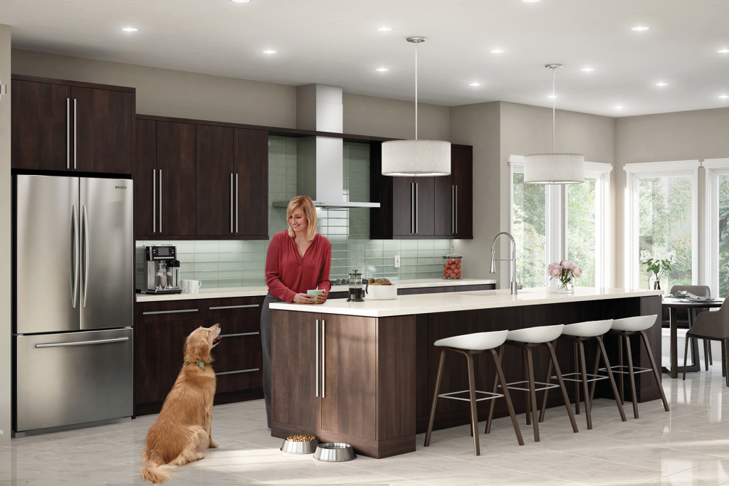 Frameless cabinetry with Quick Ship delivery option