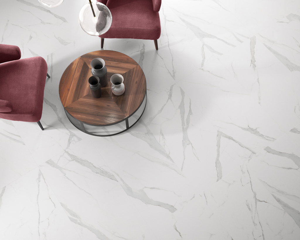 Marble-Inspired Porcelain Tile