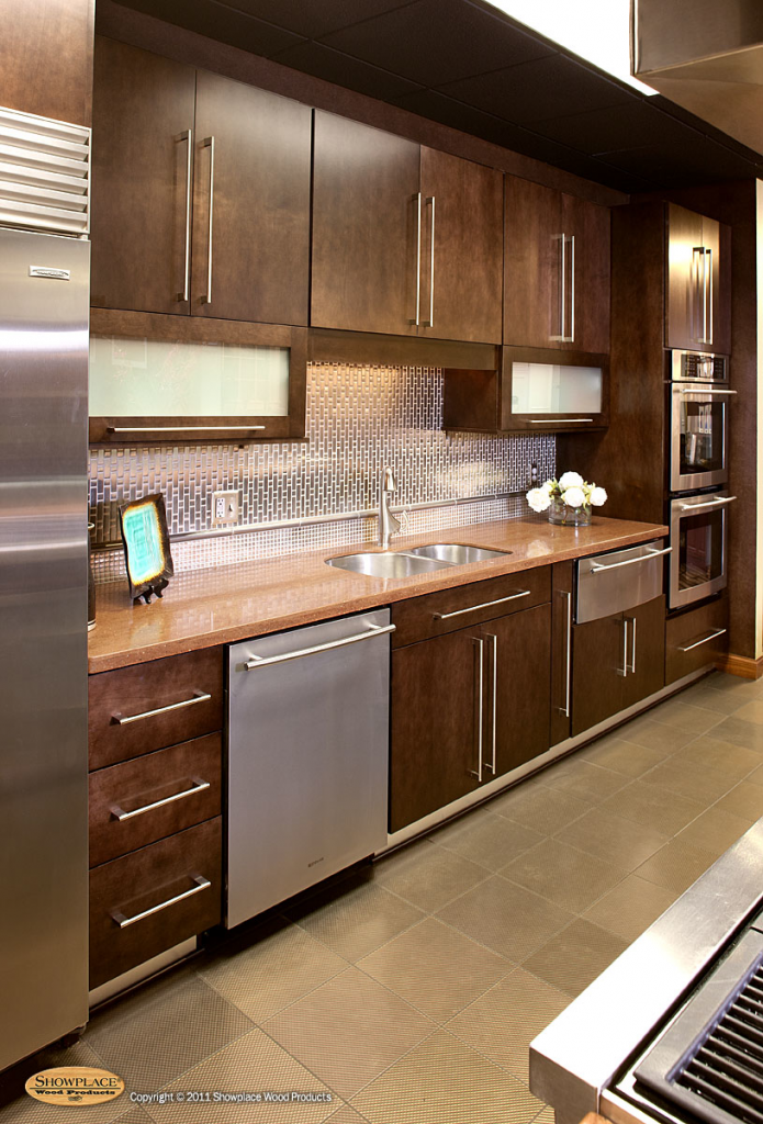 Slab style fits contemporary, modern settings